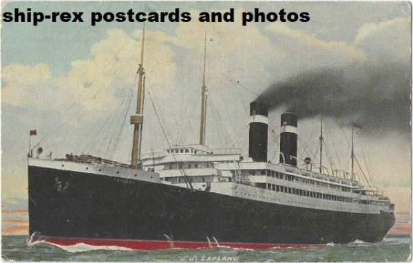 LAPLAND (Red Star Line) postcard